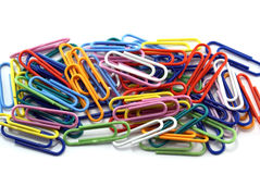 Writing paper clips Stock Photo
