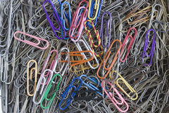 Writing paper clips. Stock Photo