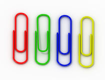 writing paper clips Royalty Free Stock Image