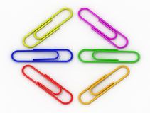 writing paper clips Stock Image