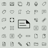 Writing on paper icon. Detailed set of minimalistic icons. Premium graphic design. One of the collection icons for websites, web d. Esign, mobile app on colored Royalty Free Stock Image