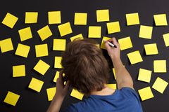 Writing a paper note Royalty Free Stock Image