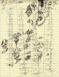 Writing Paper Scribbles Scores Background Texture Royalty Free Stock Photography