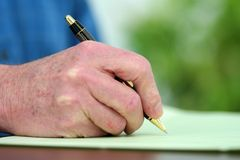 Writing on Papers Stock Photography