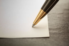 Writing with a pen Royalty Free Stock Images