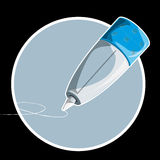 Writing pen tip. Writing pen tip,  graphic illustration on black background Stock Photography