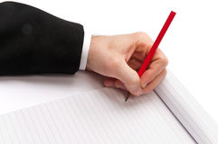 Writing with a pencil Stock Photography