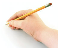 Writing with pencil Stock Images