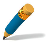 Writing pencil. A pencil writing on blank space, or white background stock illustration