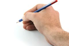 Writing with pencil royalty free stock photography