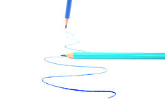 Writing pencils royalty free stock images