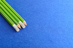 Writing pencils with erasers at the tip Stock Photography