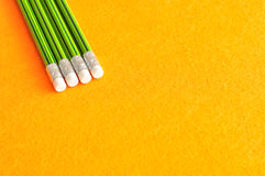 Writing pencils with erasers at the tip Royalty Free Stock Image