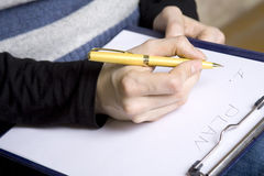 Writing Plan Royalty Free Stock Image
