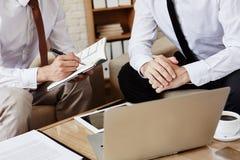 Writing plan of work Stock Image