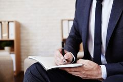 Writing plan of work Royalty Free Stock Photography