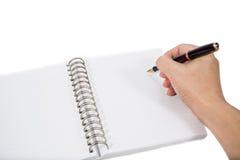 Writing planer book Royalty Free Stock Image