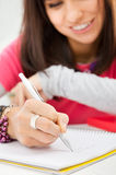 Writing praca domowa Obrazy Stock