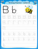 Writing practice letter B