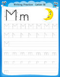 Writing practice letter M Royalty Free Stock Images