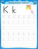 Writing praktyki list K Fotografia Stock