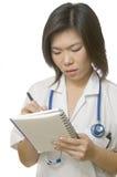 Writing prescription Stock Photo