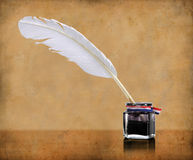 Writing Quill And Inlwell Stock Images