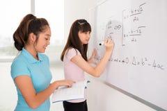 Writing równania zdjęcie stock