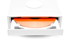 Writing record player with a disk Stock Photo
