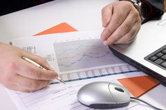 Writing reports Stock Photography