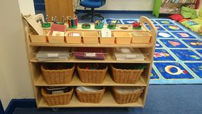 Writing resources. Useful classroom storage Royalty Free Stock Photography