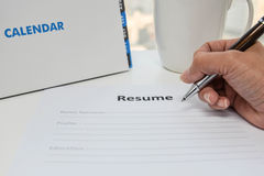 Writing Resume Royalty Free Stock Images