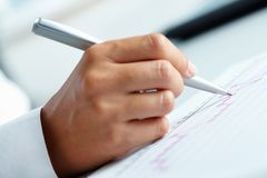 Writing review Royalty Free Stock Photo