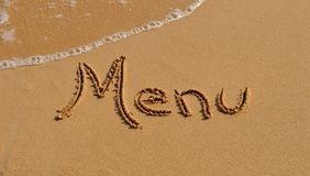 Writing in the sand Royalty Free Stock Images