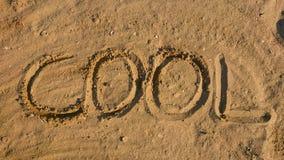 Writing on sand royalty free stock photo