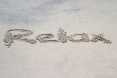 Writing on sand Royalty Free Stock Images