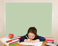 Writing in School Royalty Free Stock Image