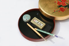 Writing set. Chinese writing box Stock Image