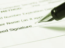 Writing signature Stock Images