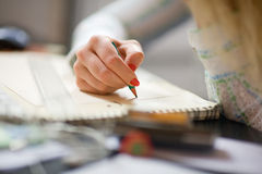 Writing. Soft focus. Stock Images