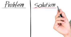 Writing the solution Stock Photo