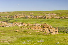 Writing on Stone Provincial Park Stock Photo
