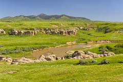 Writing on Stone Provincial Park Royalty Free Stock Photos
