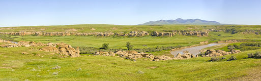 Writing on Stone Provincial Park Stock Images