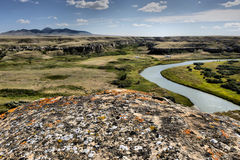 Writing-On-Stone Provincial Park. Landscape featuring the Milk River Valley from Writing-On-Stone Provincial Park Royalty Free Stock Images