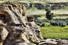 Writing-On-Stone Provincial Park Royalty Free Stock Photo