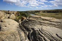 Writing-On-Stone Provincial Park Royalty Free Stock Image