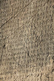 Writing on the stone wall of the ancient city of T. Urkey Patara Royalty Free Stock Photos