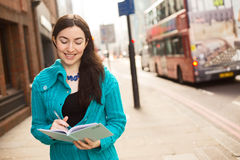 Writing in the street Stock Photos