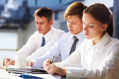 Writing students Stock Image